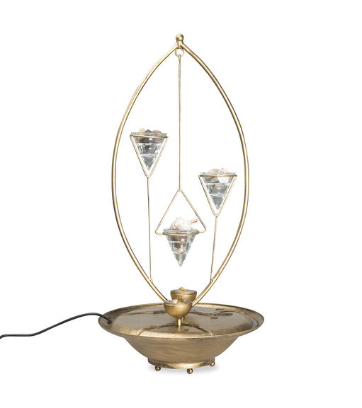 Divine 3 Water Fountain Metal Lite-@home By Nilkamal, Copper