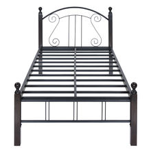 Spinix Single Bed without Storage - @home by Nilkamal, Black & Brown