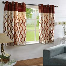 44'x60' Nautical Window Curtain - @home Nilkamal,  orange