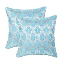 12'x12' Glory Set Of 2 Cushion Covers - @home Nilkamal,  blue