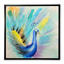Homely Peacock Picture Frame - @home by Nilkamal, Indigo
