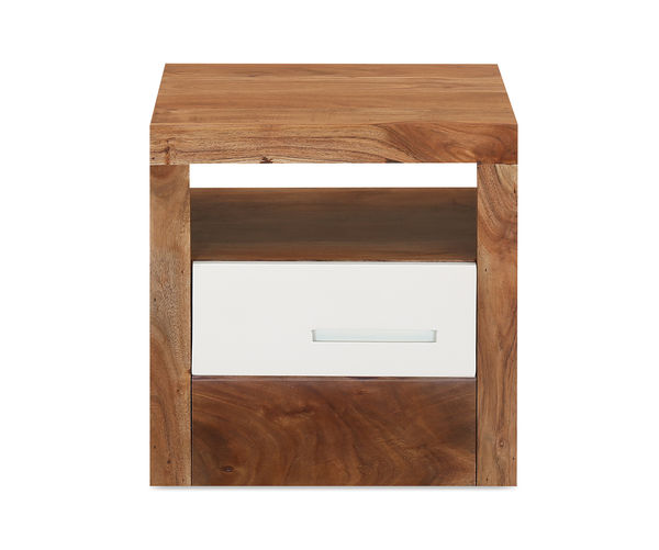 Thor Maple Night Stand - @home By Nilkamal, White