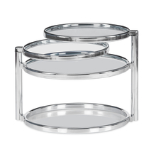 Lorena with 4 Ring Glass Center Table - @home by Nilkamal, Clear