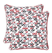 16'x16' Blush Set of 2 Cushion Covers - @home Nilkamal, multi