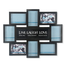 Cluster 8 Collage Photo Frame - @home by Nilkamal, Black