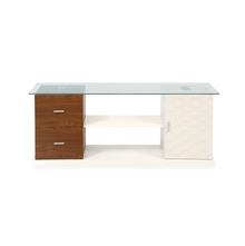 Duro Low Height Wall Unit - @home by Nilkamal, Walnut & Ivory