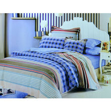 Arcade Checkered Bed sheet - @home Nilkamal,  blue