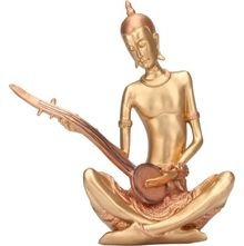Musical Monks Guitar Showpiece- @home By Nilkamal, Copper