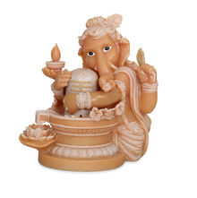 Ganesha & Shiv Water Fountain - @home by Nilkamal, Cream
