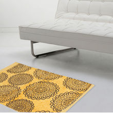 Circle 40 cm x 60 cm Rug - @home by Nilkamal, Yellow