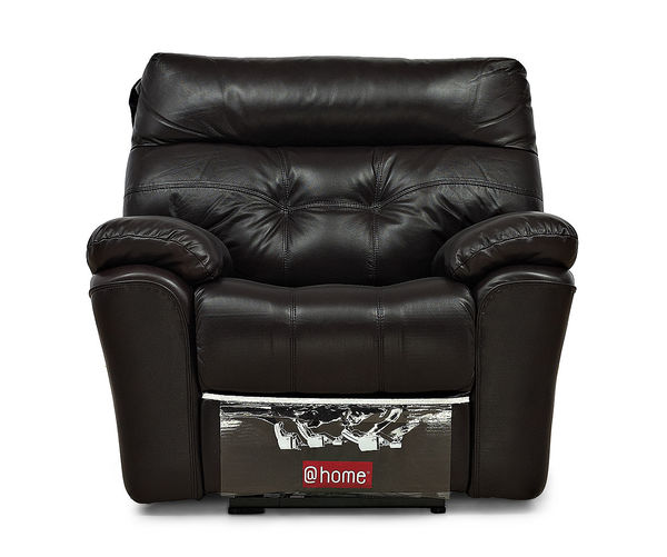 Beverly 1 Seater Sofa With Electric Recliner - @home Nilkamal,  burgundy