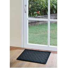 Square Moulded 45 x 75 cm Doormat - @home by Nilkamal, Black