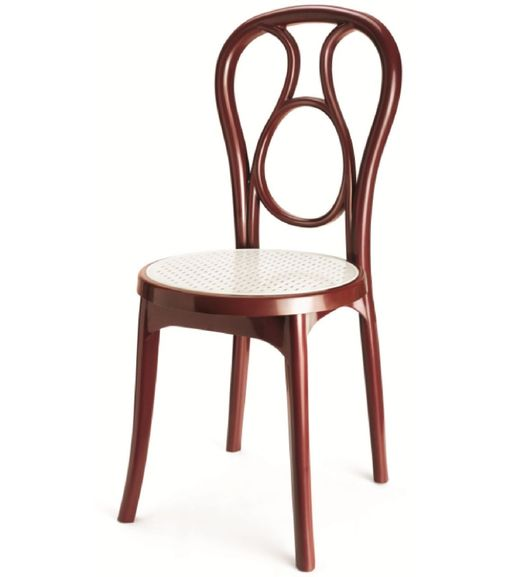 Nilkamal Chair Series 4041, Maroon/Cream