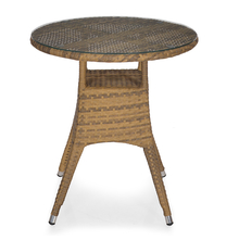 Nilkamal Mildura Round Garden Table, Brown & Grey