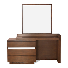 David Dresser with Mirror - @home by Nilkamal, Dark Walnut