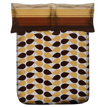 Petals Double Bed Sheet - @home Nilkamal,  brown