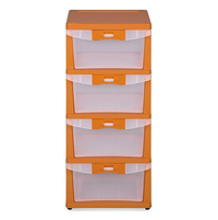 Nilkamal Chester Storage Drawer Series -24,  orange