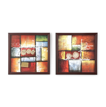 Abstract Painting - @home by Nilkamal, Set of 2