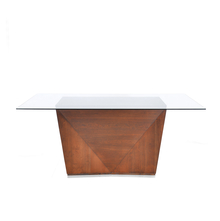 Nixon 6 Seater Dining Table - @home by Nilkamal, Antique Cherry