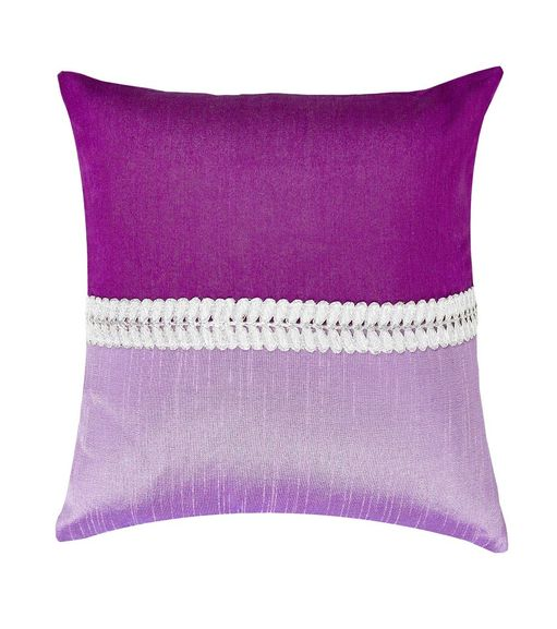 12 x12  Patch Cushion Cover - @home Nilkamal,  purple