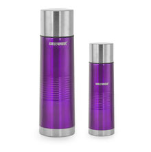 Bergner Set of 2 Vaccuum Flask with Bag - Purple