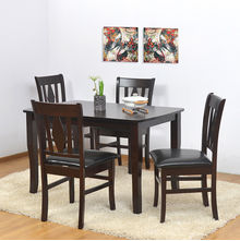 Malmo 4 Seater Dining Kit - @home Nilkamal,  brown