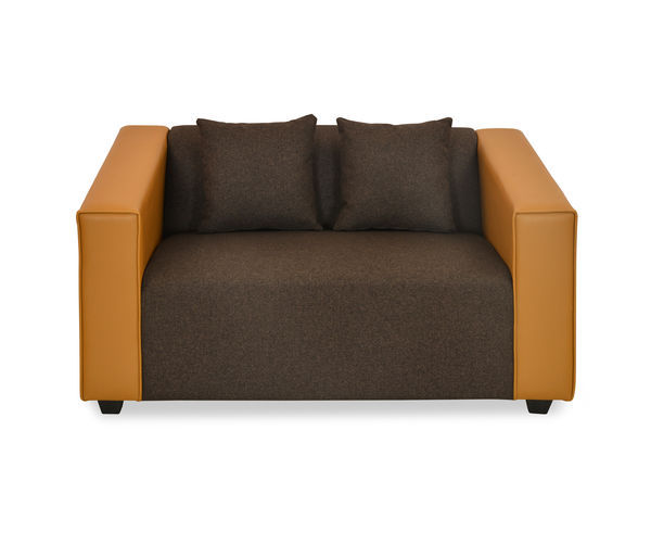 Diana 2 Seater Sofa - @home by Nilkamal, Camel