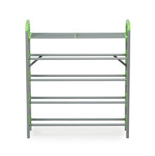 Nilkamal Redley 5 Layer Iron Shoe Rack, Green