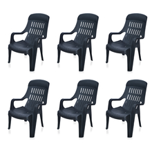 Nilkamal Weekender Garden Chair Set of 6 - Black