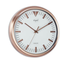 Opal Panache Wall Clock Rose Gold Finish with Raised Index