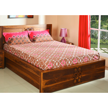 Dalliance 228 x 254 cm Double Bedsheet - @home by Nilkamal, Fushcia