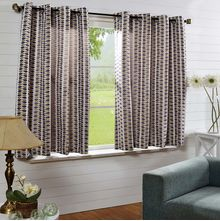 50'x60' Leaf Design Single Window Curtain - @home Nilkamal,  green