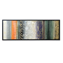 Textile Autumn Picture Painting 50 x 150 - @home By Nilkamal, Blue & Peach
