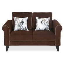 Shelby 2 Seater Sofa - @home by Nilkamal, Pecan Brown
