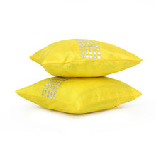 Saphire Mir 40 cm x 40 cm Cushion Cover Set of 2 - @home by Nilkamal, Yellow