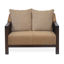 Chevy 2 Seater Sofa - @home by Nilkamal, Latte Brown