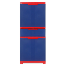 Nilkamal Freedom Cabinet with 1 Drawer Center - Pepsi Blue & Bright Red
