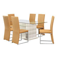 Brick 6 Seater Dining Kit - @home By Nilkamal, White