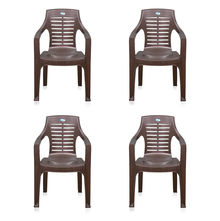 Nilkamal CHR6020 Chair Set of 4 - Weather Brown