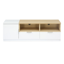 Fusion Low Height Wall Unit - @home by Nilkamal, Maple with High Gloss