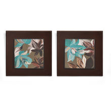 Floral Embossed Set of 2 Painting - @home by Nilkamal, Seagreen