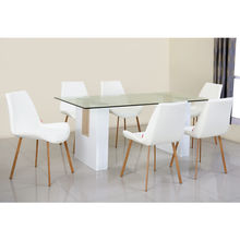 Fusion 6 Seater Dining Set - @home by Nilkamal, Maple & White