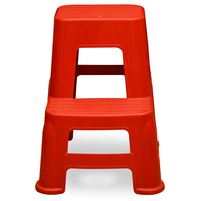 Nilkamal Step Stool 21, Bright Red