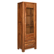 Delmonte Curio Cabinet Left Door - @home Nilkamal,  walnut