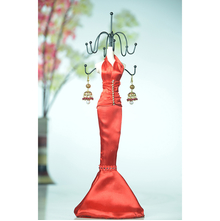 Stunning Red Lady Mannequine Jewellery Stand - @home Nilkamal