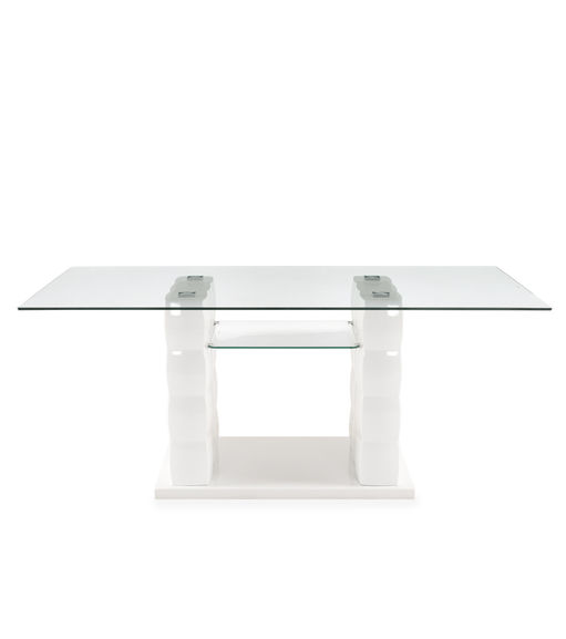 Brick 6 Seater Dining Table - @home By Nilkamal, White