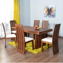 Delmonte 6 Seater Dining Kit - @home Nilkamal,  walnut