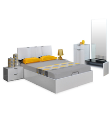 Scoop High Gloss Queen Bedroom Set - @home By Nilkamal, White