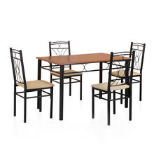 Sidney 4 Seater Dining Set - @home by Nilkamal, Black
