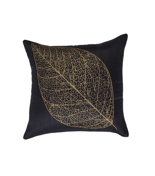 12 x12  Leaf Cushion Cover - @home Nilkamal,  gold